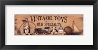 Framed Vintage Toys