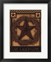 Framed Live, Laugh, Love Star