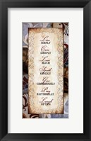 Rules to Live By Framed Print