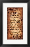 Framed For God So Loved