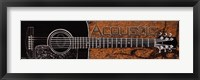 Acoustic - black guitar Framed Print