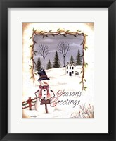 Season's Greetings Framed Print