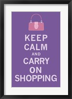 Keep Calm, Shopping Framed Print
