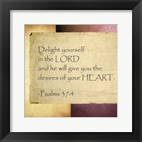 Framed Delight Yourself in the Lord
