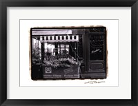 Cafe Charm, Paris I Framed Print