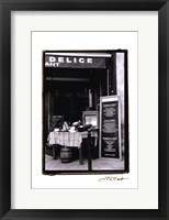 Cafe Charm, Paris IV Framed Print