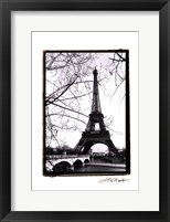 Framed Eiffel Tower Along the Seine River