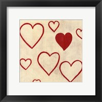 Best Friends- Hearts Framed Print