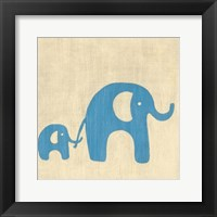 Best Friends- Elephants Framed Print