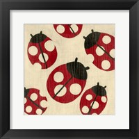 Best Friends- Ladybugs Framed Print