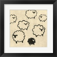 Best Friends- Sheep Framed Print