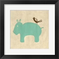 Best Friends- Hippo Framed Print