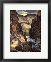 Weber Canyon Framed Print