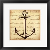 Framed Sepia Captain's Anchor
