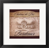 Wine Label II Framed Print