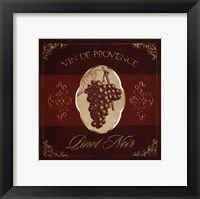 Wine Label IV Framed Print
