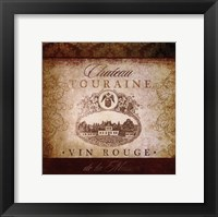 Wine Label VI Framed Print