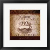 Framed Wine Label VI