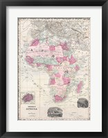Framed 1862 Johnson Map of Africa