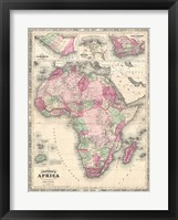 Framed 1864 Johnson Map of Africa