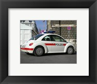 Framed VW Police Beetle