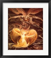 Framed William Blake the dragon