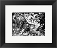 Framed Medieval Dragon I