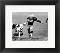 Framed Paul Hornung action
