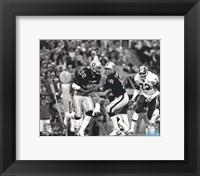 Framed Marcus Allen & Jim Plunkett Super Bowl XVIII Action