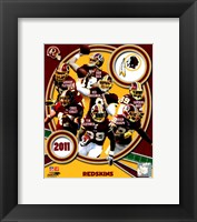 Framed Washington Redskins 2011 Team Composite