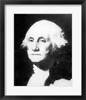 Framed Collier's 1921 Washington George - Gilbert Stuart