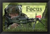 Framed Focus Affirmation Poster, USAF