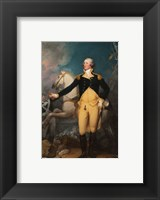 Framed General George Washington at Trenton by John Trumbull