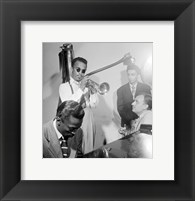 Framed Howard McGhee, Brick Fleagle and Miles Davis, September 1947