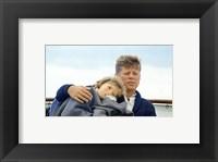 Framed Hyannisport Weekend Caroline Kennedy, President Kennedy