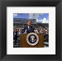 Framed JFK at Rice University