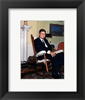 Framed JFK in Yellow Oval Room 1962