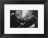 Framed JFK Khrushchev Handshake 1961