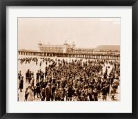 Framed Crowd at Atlantic City 1910