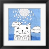 Howdy Cat Framed Print