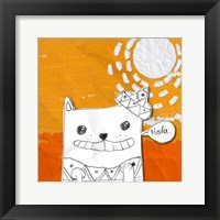 Hola Cat Framed Print