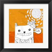 Hola Cat Framed Print