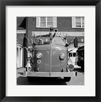 USA, New York, East Meadow, Fire engine Framed Print