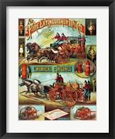 Framed Fire Extinguisher Mfg. Co., Advertising Poster, ca. 1890