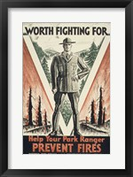 Framed Worth Fighting for, Help Your Park Ranger Prevent Fires