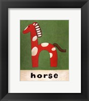 H is for Horse Framed Print