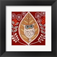 Framed Autumn Owl