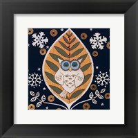 Framed Winter Owl