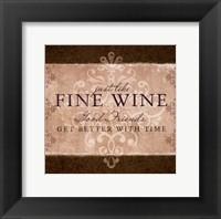 Wine Inspiration II Framed Print