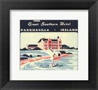 Vintage Travel Label V Framed Print